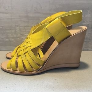 Sigerson Morrison 9359 Yellow Wedge Sandal